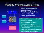 mobility system s applications