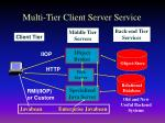 multi tier client server service