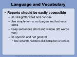 language and vocabulary