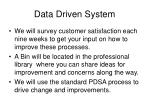 data driven system