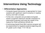 interventions using technology