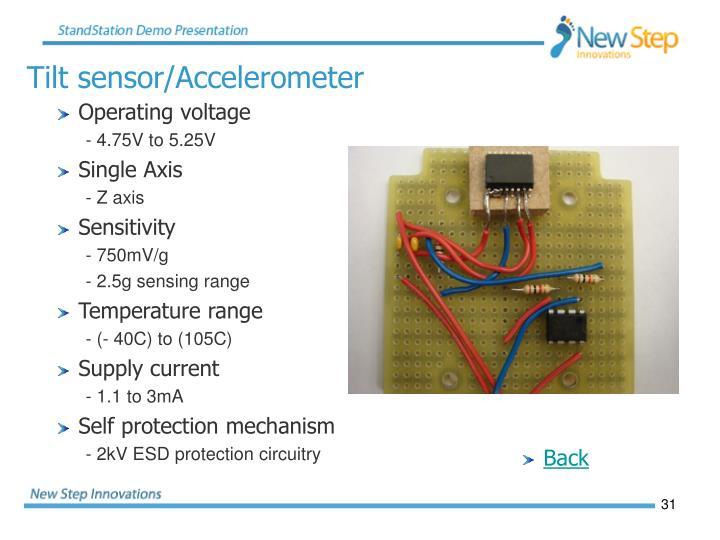Tilt sensor/Accelerometer