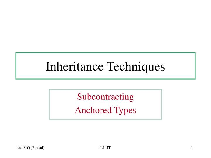 inheritance techniques n.