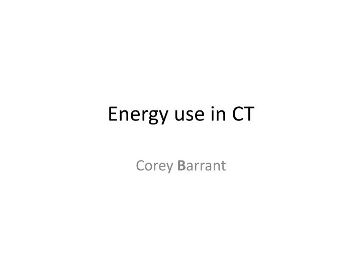 energy use in ct n.