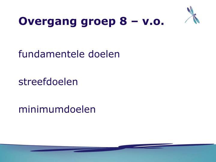 Overgang groep 8 – v.o.