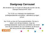 doelgroep carrousel