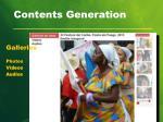contents generation
