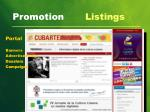 promotion listings