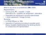 differences correspondences xml vs relational