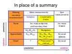 in place of a summary3