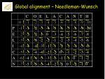 global alignment needleman wunsch