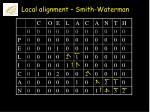 local alignment smith waterman