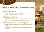 gains from closing the gender gap