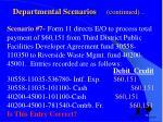 departmental scenarios continued6