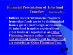 financial presentation of interfund transfers continued