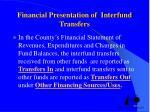 financial presentation of interfund transfers