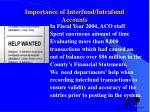 importance of interfund intrafund accounts