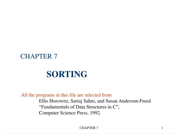 chapter 7 sorting n.