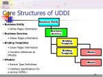 core structures of uddi