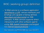 w3c working group definition