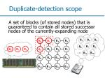 duplicate detection scope