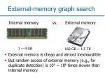 external memory graph search