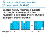 structured duplicate detection zhou hansen aaai 04