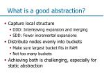 what is a good abstraction