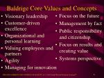 baldrige core values and concepts