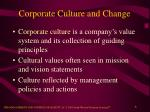 corporate culture and change