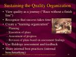 sustaining the quality organization