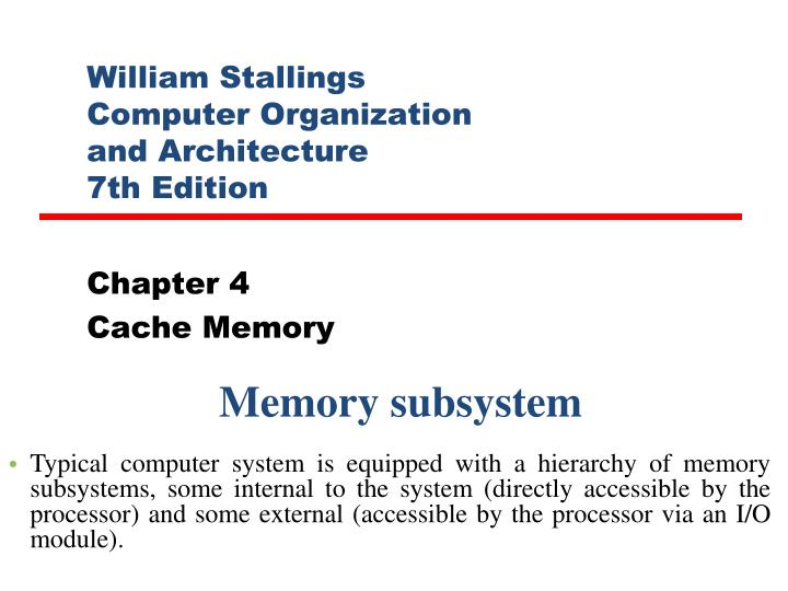 william stallings computer organization and architecture 7th edition n.
