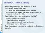 the ipv4 internet today