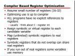 compiler based register optimization
