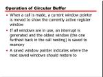 operation of circular buffer