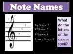 note names1