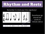 rhythm and rests