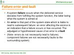 failure error and fault ieee tc ftd ifip wg10 4 definitions