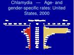 chlamydia age and gender specific rates united states 2000