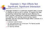 example 1 main effects not significant significant interaction