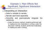 example 1 main effects not significant significant interaction3