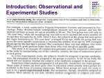 introduction observational and experimental studies1