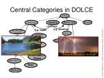 central categories in dolce