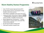 warm healthy homes programme