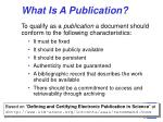 what is a publication