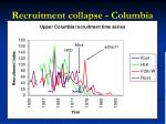 recruitment collapse columbia