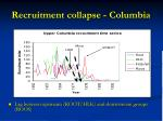 recruitment collapse columbia1