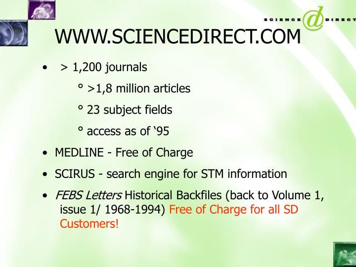 WWW.SCIENCEDIRECT.COM