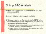 chimp bac analysis