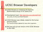 ucsc browser developers